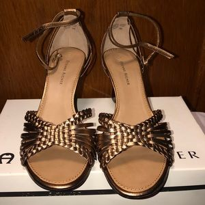 Etienne Aigner Women's ETally Bronze Wedge Sandals